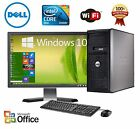 CLEARANCE!!! Fast Dell Desktop Computer PC Core 2 Duo WINDOWS 10/7 LCD + KB + MS
