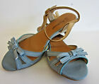 Anne Michelle L3409 Ladies Blue Wedge Sandals UK3-8 (R11B)