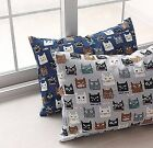 Cheeky cats 100% Cotton fabric oxford Animal pet Kitten grey All sizes HO/13<