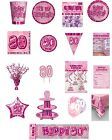 80 / 80th Birthday Pink Glitz Party Range - Party/Plates/Napkins/Banners/Cups