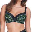 Freya Lingerie Pin Up Padded Underwired Half Cup Bra Black 5092 NEW