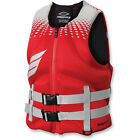 New Mens Guys Slippery Surge Neo Life Vest Flotation Device Red Grey XS-3X