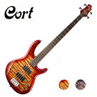 Cort Action DLX Plus 4 String Quilted Top Markbass Active Passive Electric Bass
