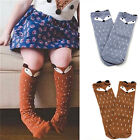 Внешний вид - US STOCK Socks For Baby Girls Kids Toddler Fox Socks Cotton Knee High Hosiery