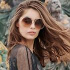 Retro Women Fashion Outdoor Metal Sunglasses Vintage Round Oversize New Glasses