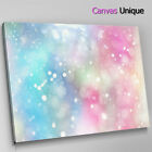 AB1724 pink blue sparkle glow Abstract Canvas Wall Art Framed Picture Print