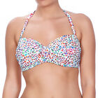 Freya Swimwear Party Animal Underwired Twist Bandeau Bikini Top White/Multi 3777