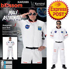 CA255 Astronaut White Mens Space Camp Suit Nasa Book Week Fancy Dress Up Costume