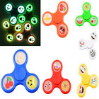 Emoji Faces Glow In The Dark Finger Fidget Hand Spinner Bearing Factory Lowest