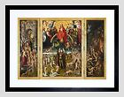PAINTING TRIPTYCH MEMLING THE LAST JUDGMENT FRAMED ART PRINT F12X11253