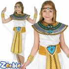 Girls Egyptian Queen  Fancy Dress Costume Cleopatra Outfit Age 6-12