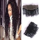 "Brazilian Deep Curly Peru Virgin Ear to Ear  Lace Frontal Bleached Knots 13""x4"""