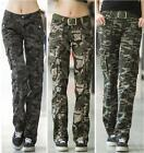Women outdoor sports straight cargo pants Ladies Military Camouflage trousers