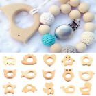 Natural Wooden Eco-Friendly Safe Baby Teether Teething Toys Baby Shower Gift YA