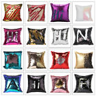 2 Colors Change DIY Glitter Sequins Cushion Cover Pillow Case Home Sofa Decor