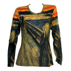 EDVARD MUNCH Scream Skrik Scary LS T-SHIRT PAINTING FINE ART PRINT EXPRESSIONISM