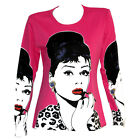 Audrey Hepburn Lips Girly Star Hollywood LS TOP T-SHIRT POP ART PRINT POSTER