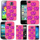 pattern case cover for many Mobile phones - blush multi shy elephant