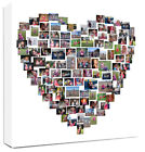 Heart Shape Photo Collage Canvas Personalised - fantastic gift, Photo Collage