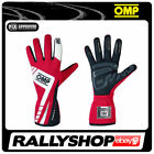 FIA OMP FIRST EVO Gloves Super Race Rally Motorsport Black Red Driving 8856