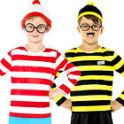 Where's Wally or Odlaw Kids Fancy Dress Story Book Day Week Boys Childs Costume