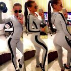 Women Tracksuit 2pcs Top+Pants Set Sports Suits Hoodie Sweatshirt Sweater Jumper