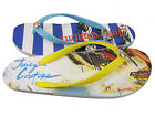 Juicy Couture Womens Filly White Blue Fashion  Beach Flip Flops Thong Sandals
