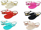 Michael Kors Womens Josie Thong Slip On Buckle Ankle Strap Casual Flats Sandals