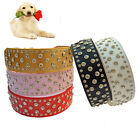 Large Dog Collars Full Crystal Studded Collar 2 Inch Wide Pu Leather Pet Collar