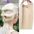 Human Hair Extensions halo One Piece Invisible Wire Flip In 100% Human Hair