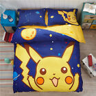*** Pikachu Single Bed Quilt Cover Set - Flat or Fitted Sheet ***