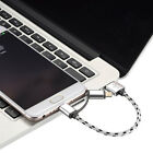 2in1 Tangle Free Lightning/Micro USB Braided Charging/Sync Cable for iPhone,30cm
