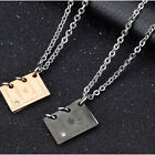 Fashion Valentine's Jewelry Stainless Steel Love Story Couple Pendant Necklace