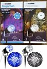 GEMMY LIGHTSHOW LED KALEIDOSCOPE PROJEcTION LIGHT ICY BLUE OR SWIRLING WHITE NEW