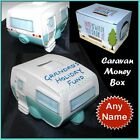 Personalised Caravan Money Banks with any name personalised free