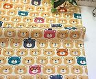 Cute bears Yellow 100% Cotton Fabric Animal teddy bear children Quilting fft268-