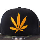 New Unisex Outdoor Embroidery Golden Adjustable Leaves Baseball Cap Snapback Hat
