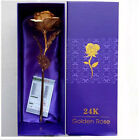 Party/wedding lovers' present 24K 99% Golden Foil Rose Flowers with gift box
