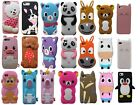 Cartoon Animal Dog 3d Silicone Rubber Case Cover For Iphone 4 5 6 Se 7 8 Plus X