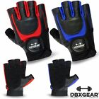 DBXGear Leather Weight Lifting Gloves Bodybuilding Exercise Training
