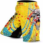 DBXGear MMA Grappling Kick Boxing Muay Thai Shorts Sublimated Yellow