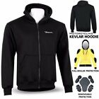 DBXGear Motorcycle Kevlar Hood Jacket Full Protective Armour Lined Fleece Hoodie