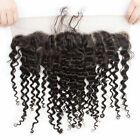 """13""""x4' BrazilianDeep Wave Pre Plucked Lace Frontal Closure With Bleached KnotS"""