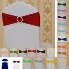 Chair Sash Stretch With buckles Tie Wedding Party Cover Band Sashes White Cloth
