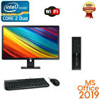 CLEARANCE!! Fast HP Desktop Computer PC Core 2 duo WIN 7/10 Pro LCD KB + MS