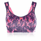 Shock Absorber Active Womens Pink Purple Running Sports Bra Support Top