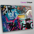 AB104 pink black urban graffiti Abstract Canvas Wall Art Framed Picture Print