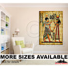 A Wall Art Canvas Picture Print Ancient Traditional Egyptian Papyrus Drawing 2.3