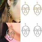Fashion Face Shape Hollow Silver/Gold Stud Dangle Ear Earrings Women Jewelry New