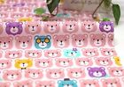Cute bears Pink 100% Cotton Fabric Girl Animal teddy children Quilting fft257-